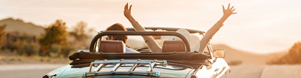 Best Roadside Service - vehicle roadside assistance plans, people in car with the top down