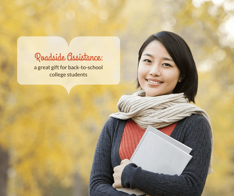 Roadside Assistance is a great gift for back-to-school college students
